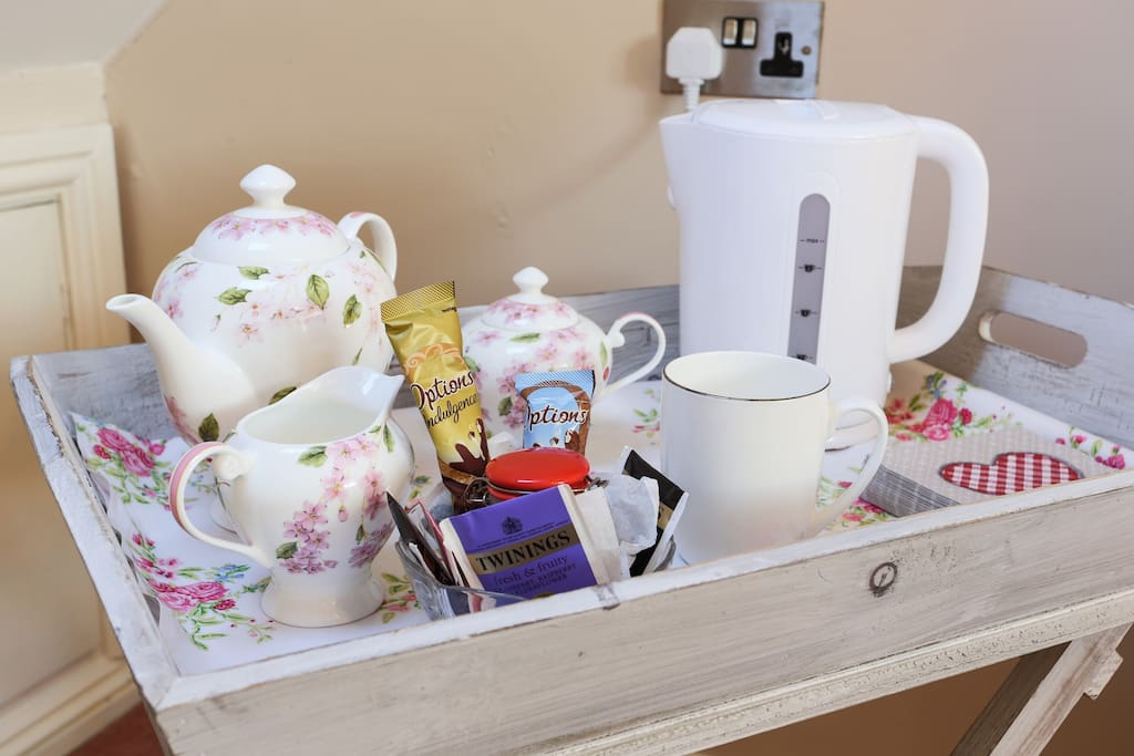 Tea tray in the rooms