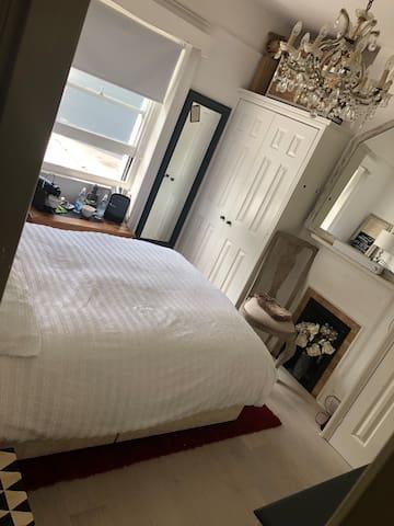 Main bedroom with coffee facilities