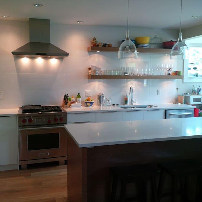 Modern kitchen with all appliances