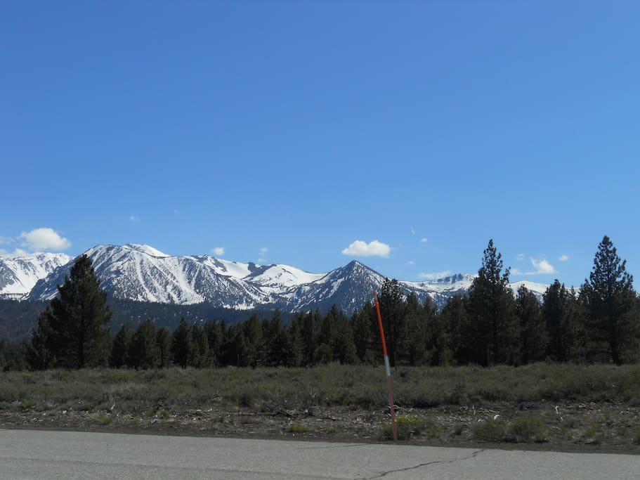 Mammoth Mountain in the background
