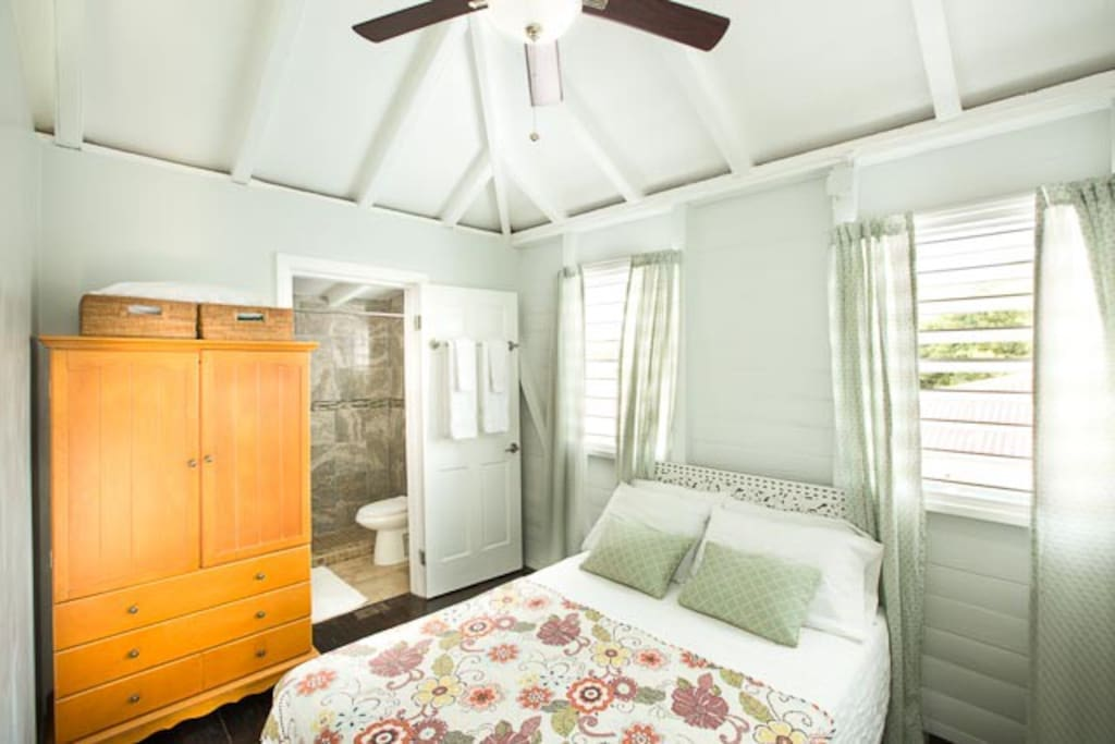 Bedroom with armoire.