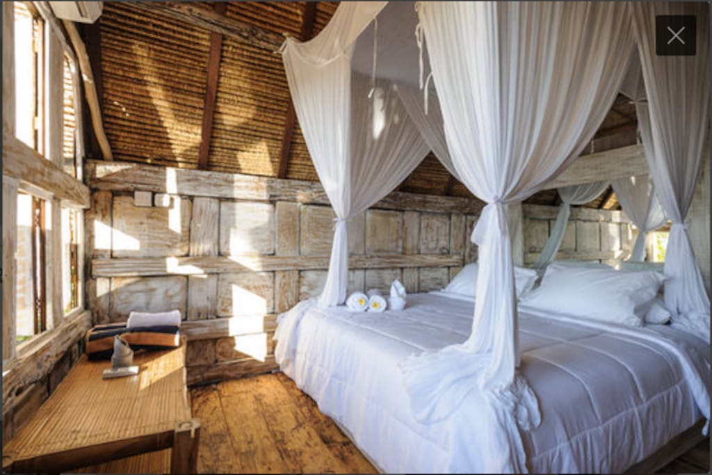 Romance at Bedroom upstairs wit AC and mosquito net