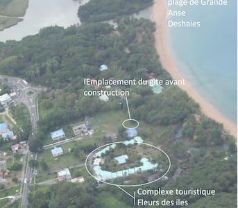 Gite pieds dans l'eau plage  Grande Anse Deshaies