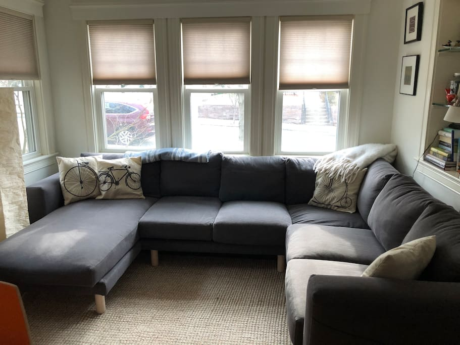 Cozy living room seating area
