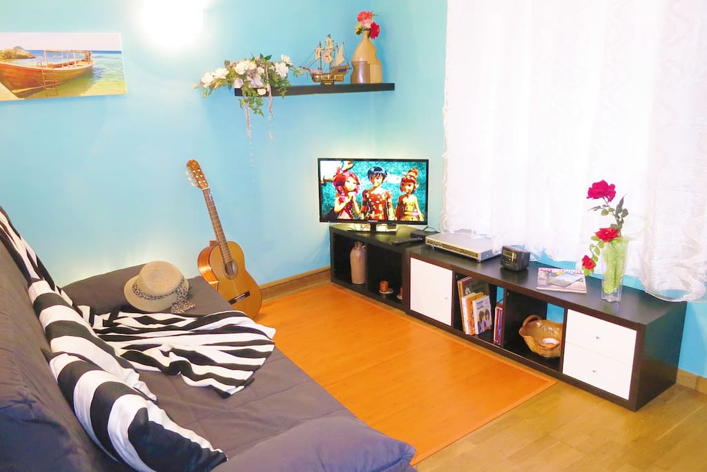 Flat-TV, Wifi-internet for free, DVD-player