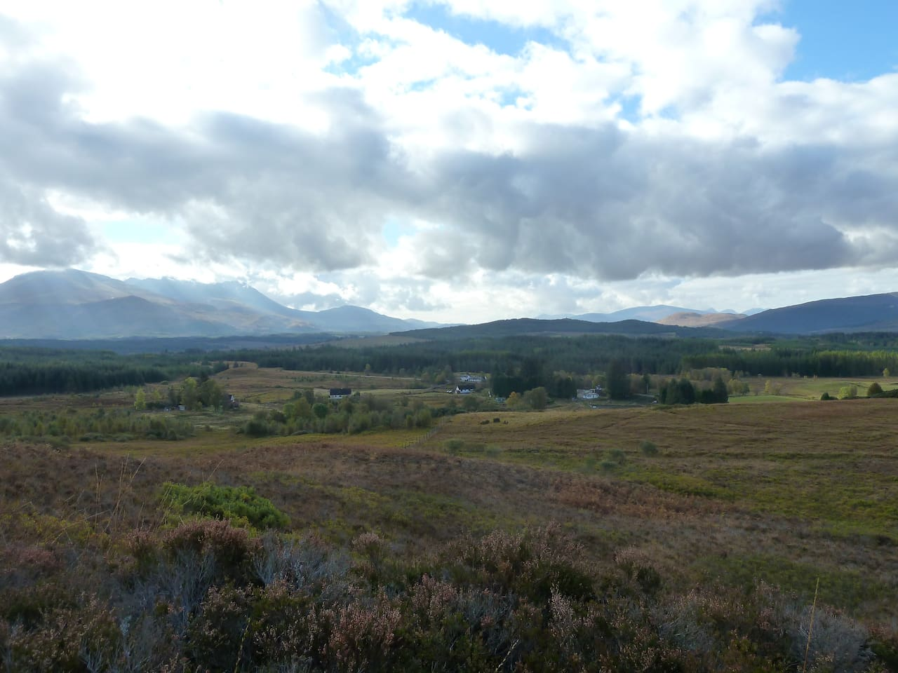 Crofting community of Stronaba. You can see the But'n'Bens and in the distance, Ben Nevis.