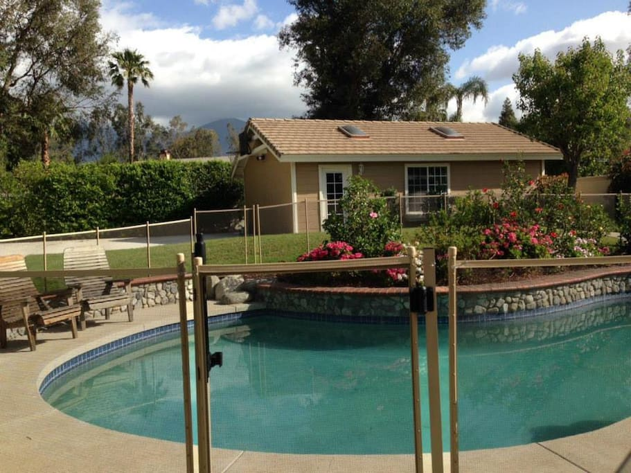 For safety, we have our pool fenced :)