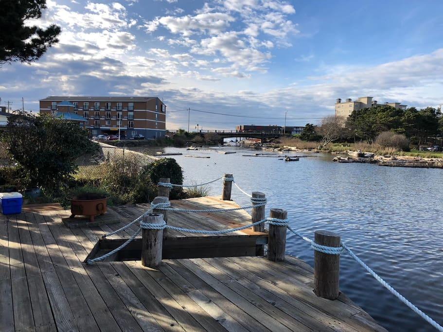 Dock looking West