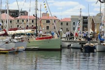 The Bi Annual Wooden Boat Festival  Hobart Docks. 3 days of all things boats.