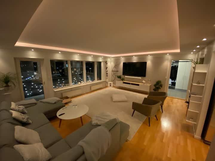 Penthouse Lejlighed inde i byen