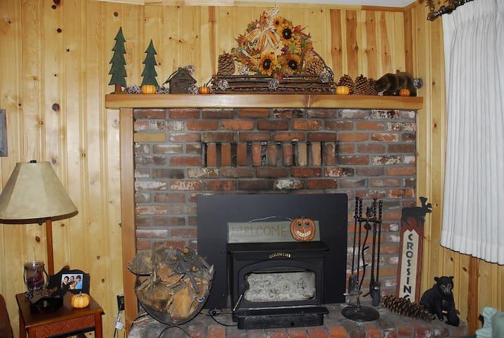 Wood stove to keep you warm on those cool nights