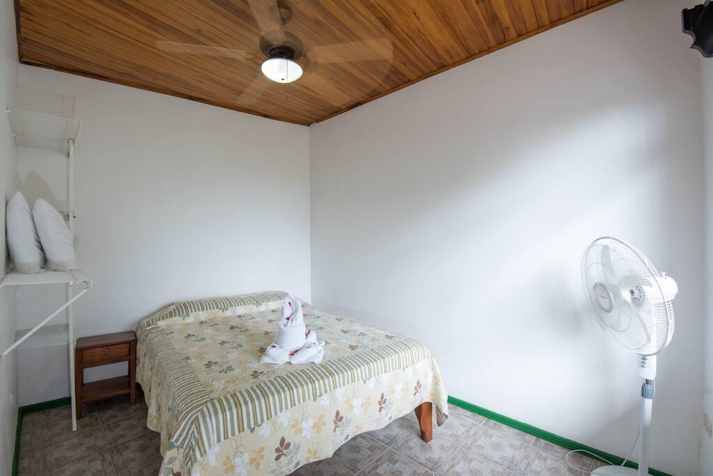 Bedroom 2: double bed & Ceiling fan