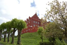 View of the nearby Tranekær castle