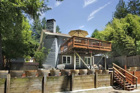 OFF THE CLOCK Private|View|Hot Tub|Close to Town - Guerneville