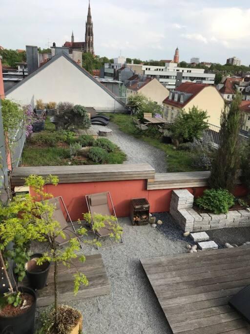 Traumhafter Dachgarten - über den Dächern von München