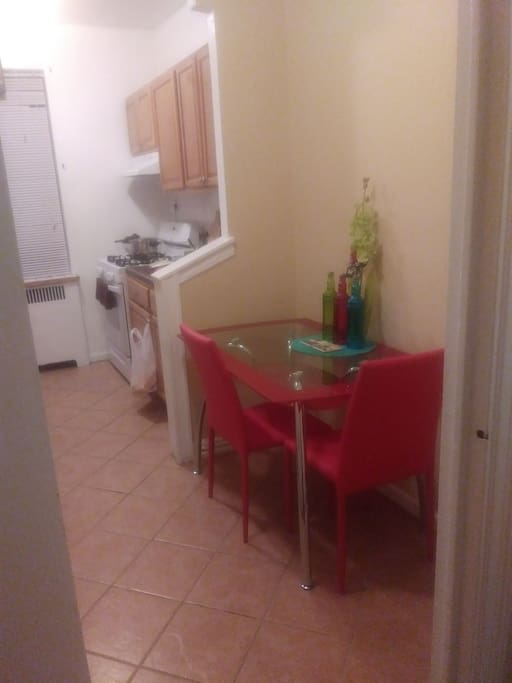 Small dining area for 2 persons