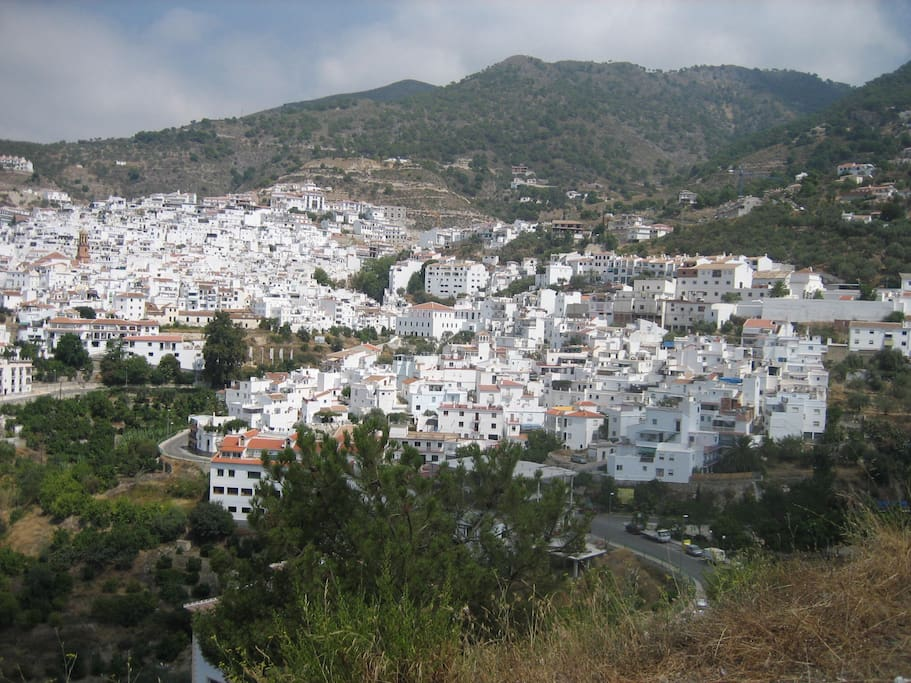 Competa our local town 5 minutes away by car