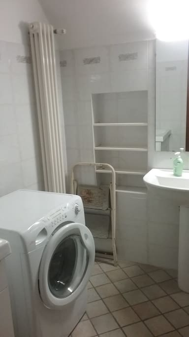 downstairs bathroom with washer/dryer