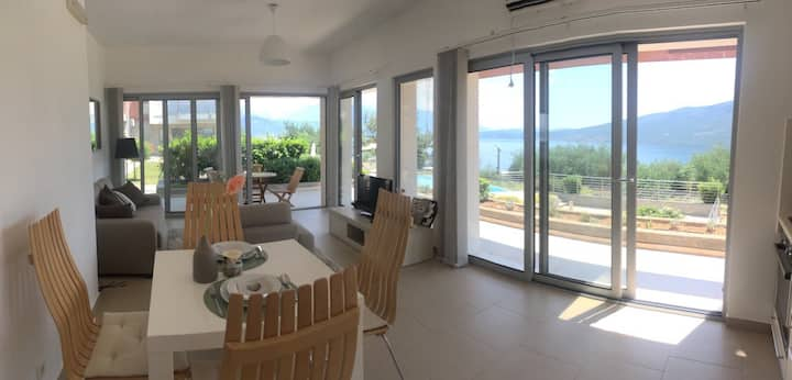 New 2 bedroom apartment with a sea view