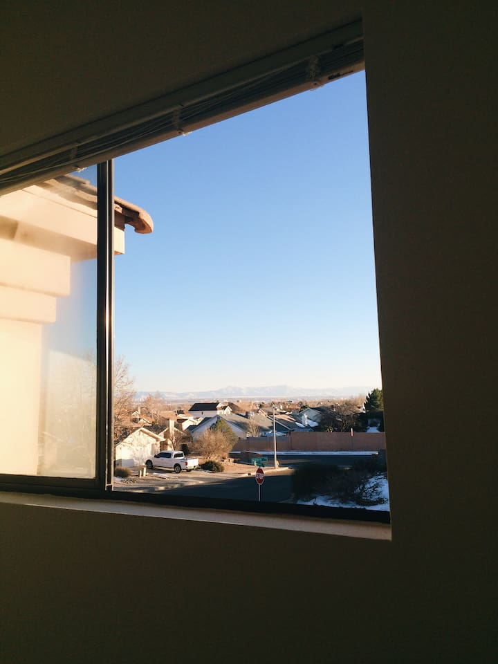 Mountain View From The Guest Bedroom