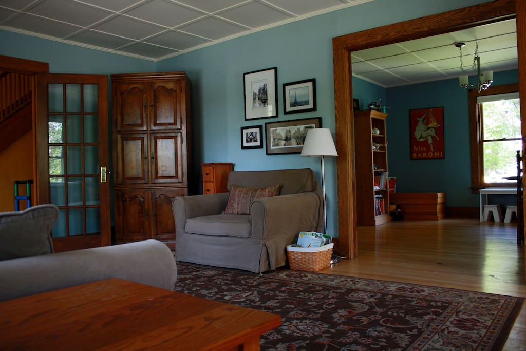 Spacious Living Room looking into Dining Room