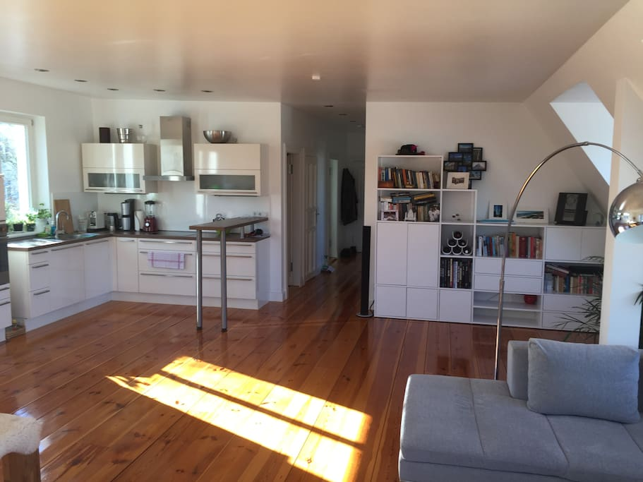 Hallway and kitchen