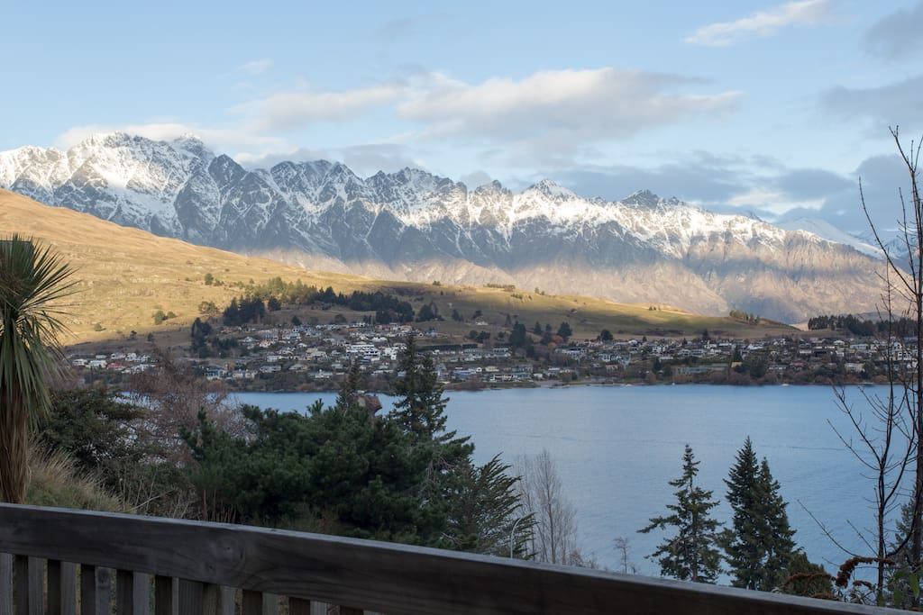 View from the Room - Lake Wakatipu & The Remarkable's Mountain Range