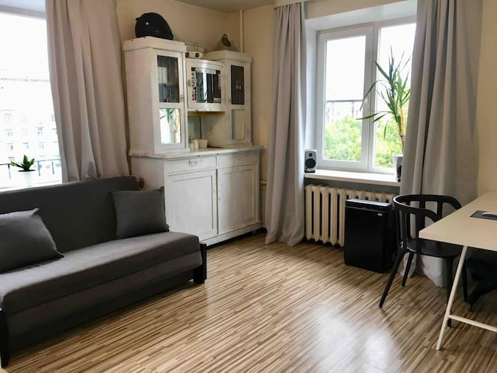 Уютная квартира рядом с Севкабель Порт