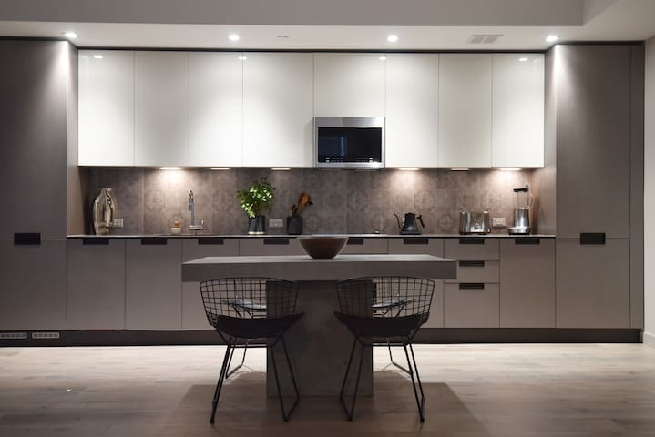 Large kitchen with latest imported Italian appliance
