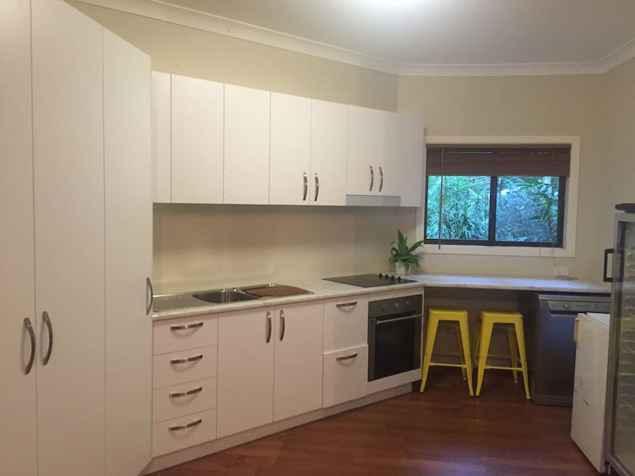 Brand new self contained kitchen and breakfast bar.