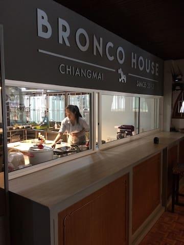Cooking school in foyer.