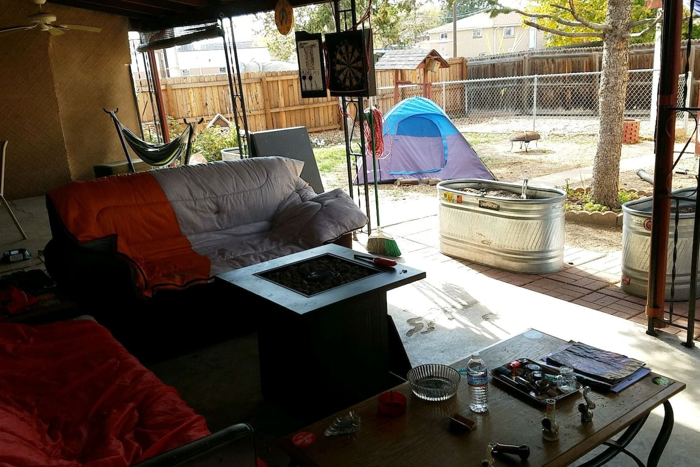 outside back patio chill spot