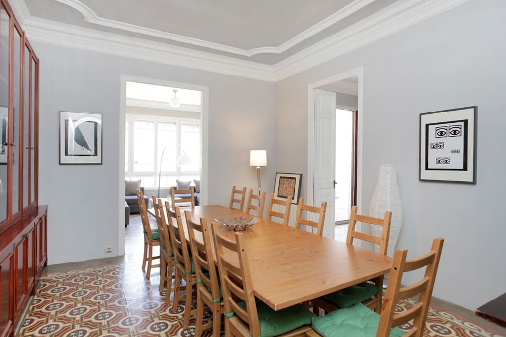 Dining room with dining big table