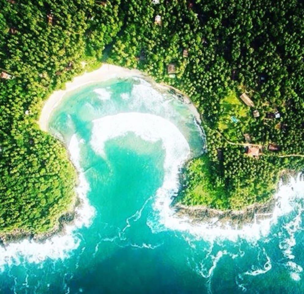 the beautiful hiriketiya beach at your doorstep