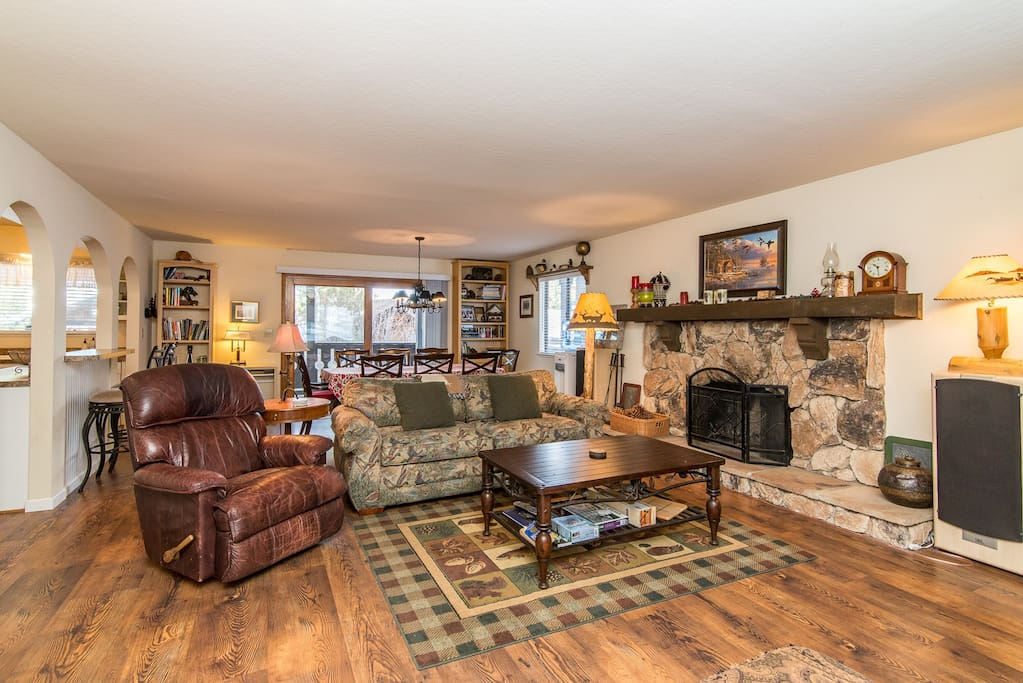 There's a charming, homey feel to this family room.