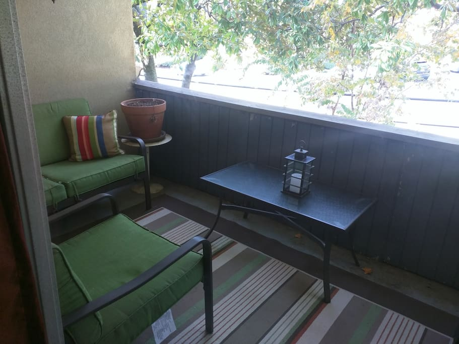 Private balcony for your morning coffee or a relaxing evening.