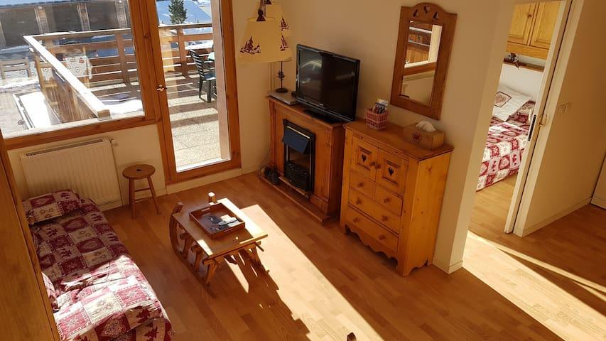 Appartement 6/8 pers  pieds de pistes/garage/Wifi