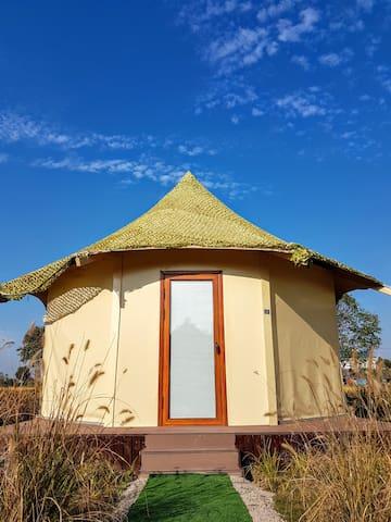 CAMPO崇明岛特色住宿体验轻松帐篷营地屋草原八角蒙古包1号