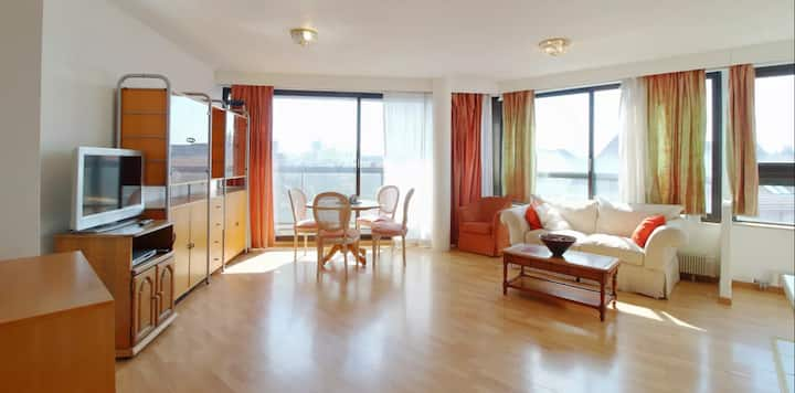 90m,2 bedrooms flat on the 6th floor in châtelain