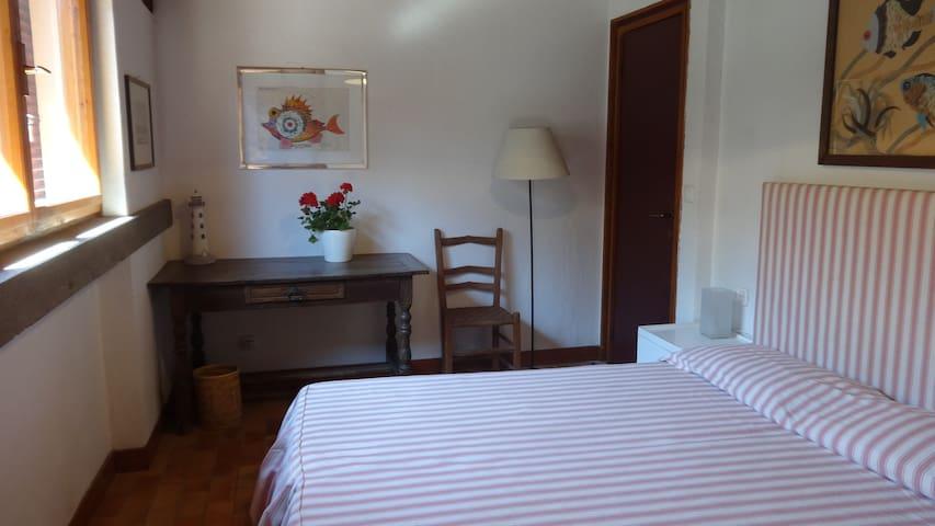 La camera matrimoniale di Villa Stella
