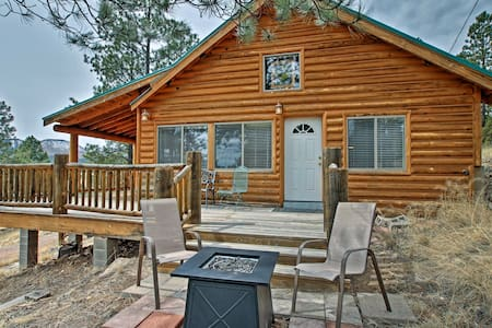 Alpine Cabin on 3 Acres w/Mtn View - Steps to Lake