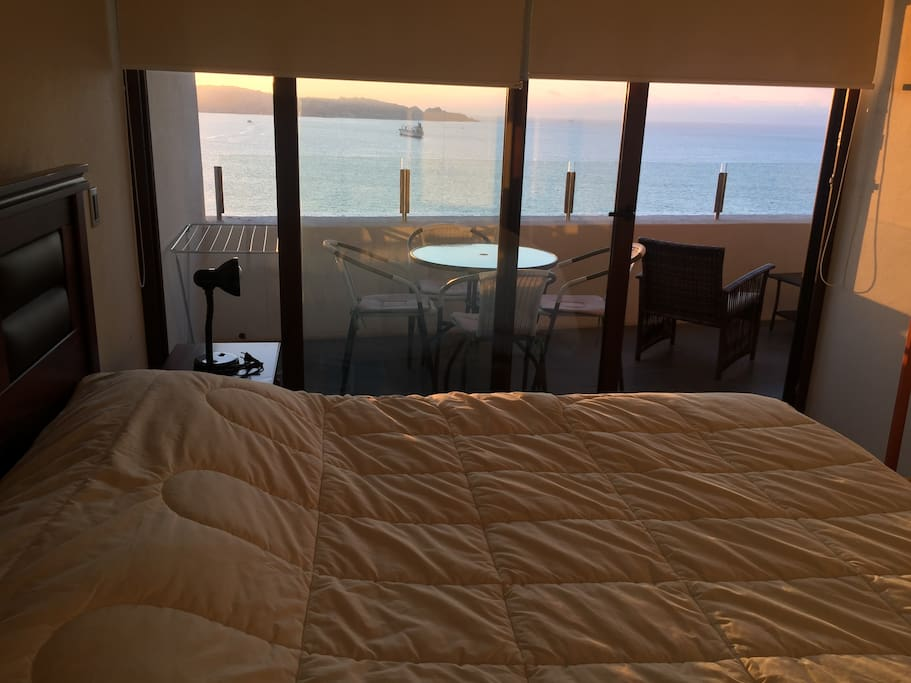 pieza suite cama dos plazas con balcon vista espectacular