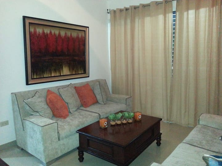 Apartment in Santiago 3BR, 2Baths, Wi-fi and AC