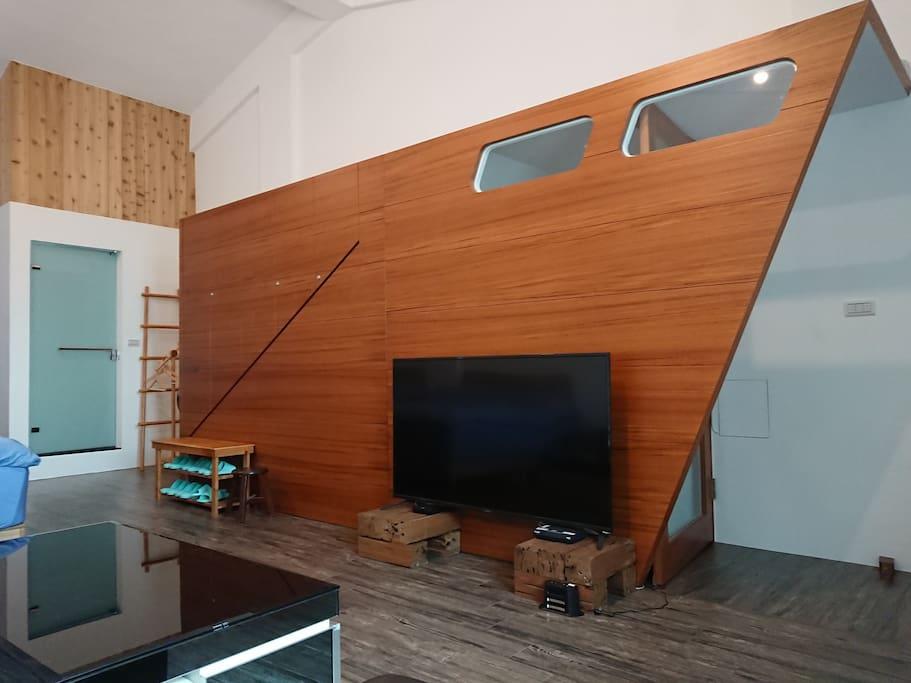 3F 6人房 55吋大型電視