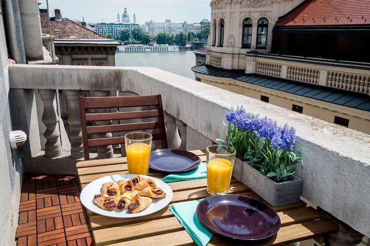 Belvedere1 Premium Apt, terrace, Danube view, A/C