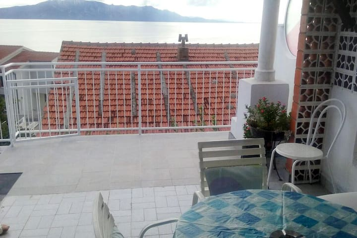 Studio flat with terrace and sea view Podaca, Makarska (AS-2631-a)