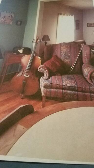 this is my cello and my cello chair.