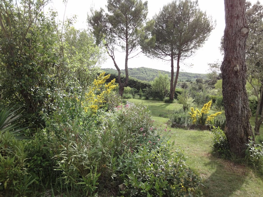 Garden with views towards the Pyrenees