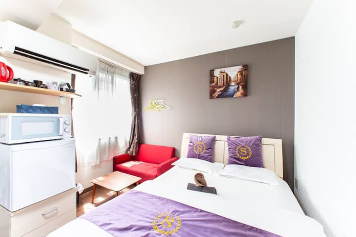 QY32 JR Train station 5-min walk, airport directly