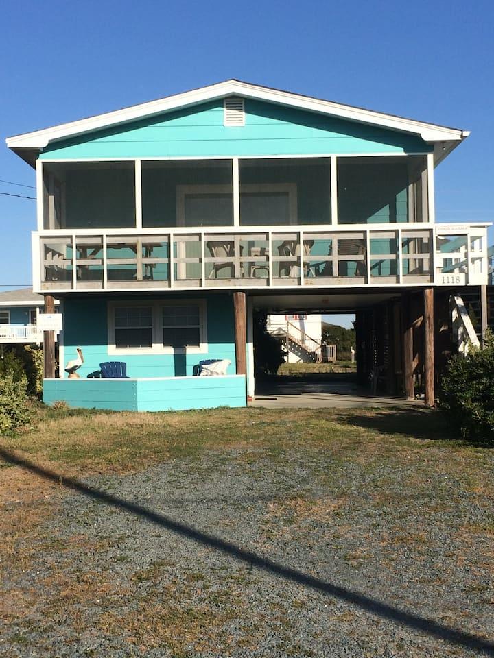 Entire Beach Cottage Topsail Beach, NC
